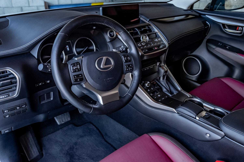 White Hybrid Lexus interior
