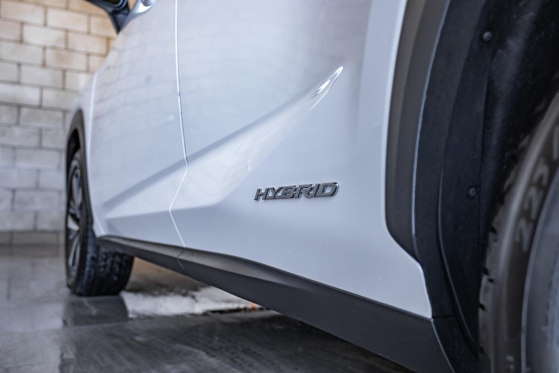 White Hybrid Lexus