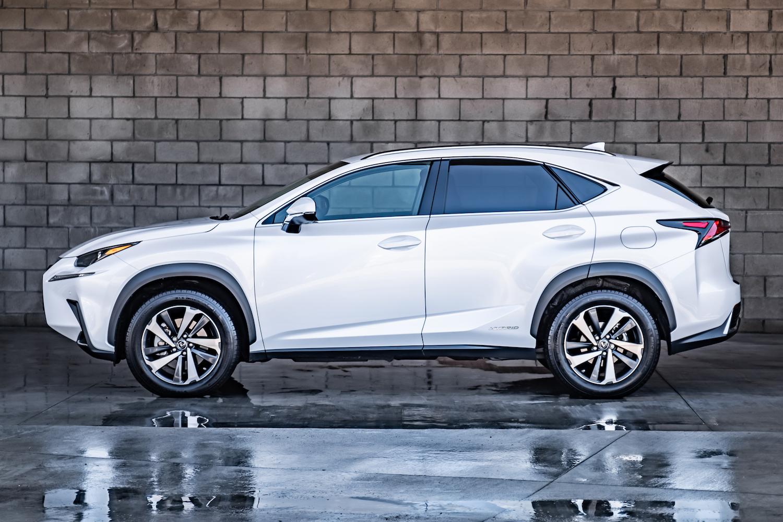 White Hybrid Lexus side